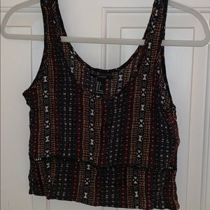 Forever 21 tribal crop top size small